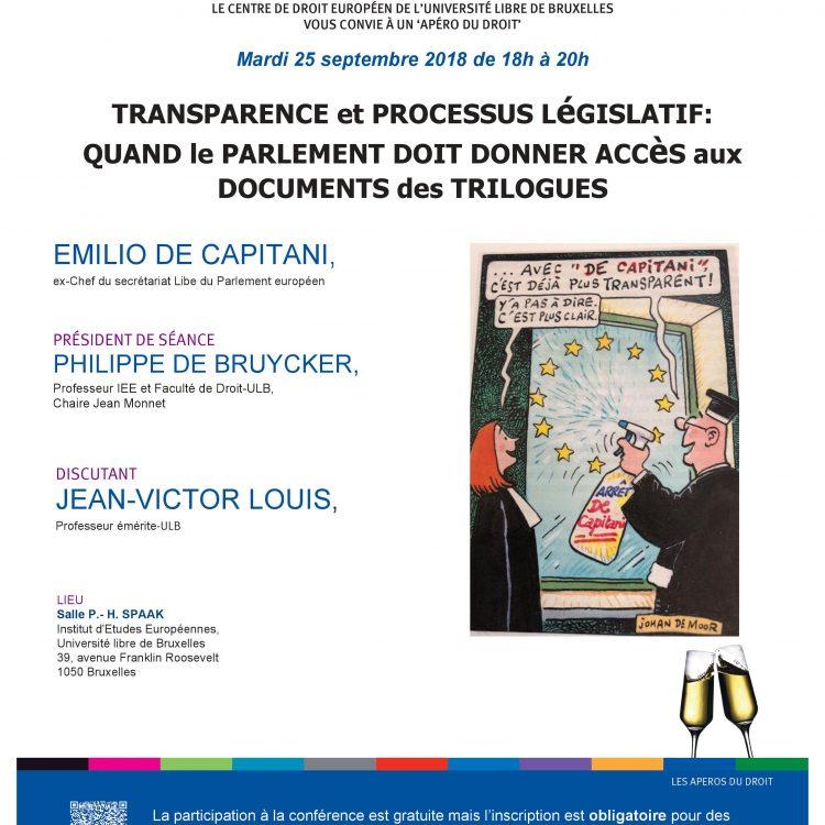 transparency and legislative procedure