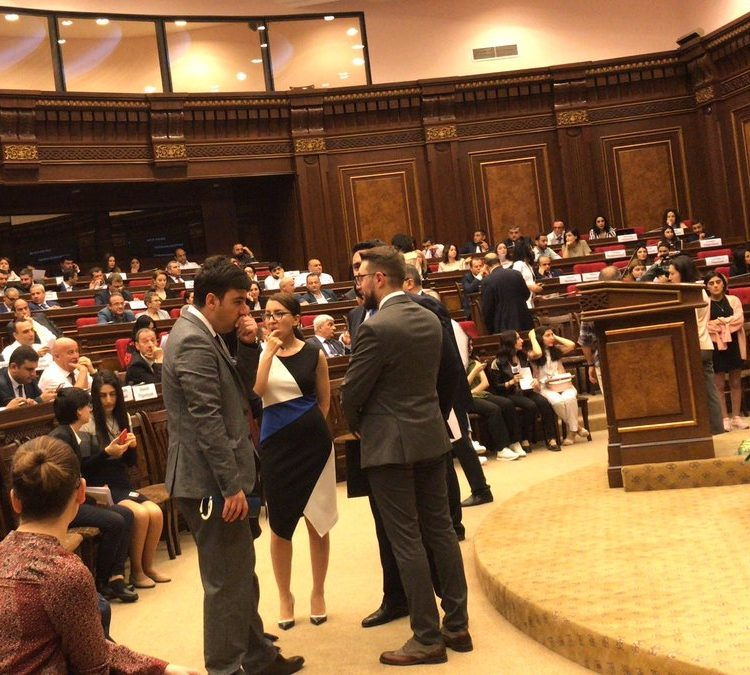 Armenia's Parliament hosting hearings on transitional justice (photo credit: Ruben Carranza/Twitter)