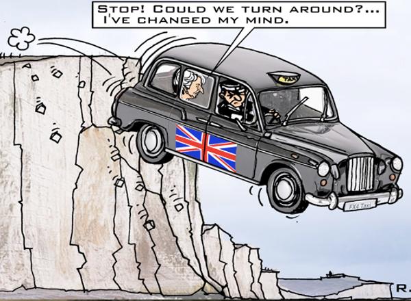 caricatures sur le Brexit