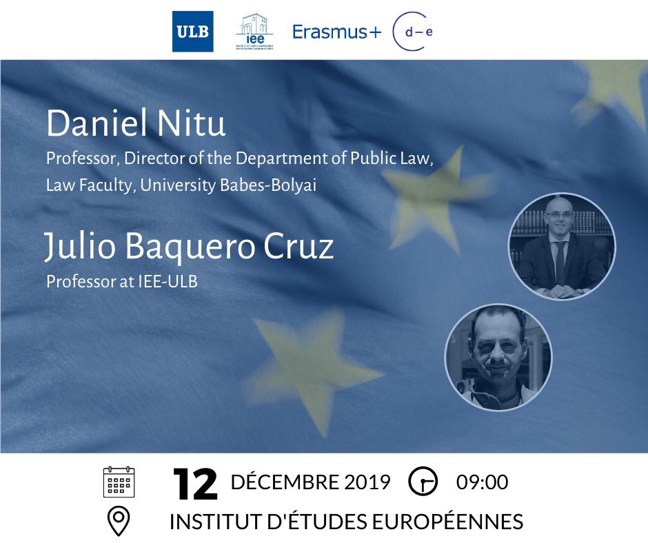 Conference participants Julio Baquero Cruz & Daniel Nitu
